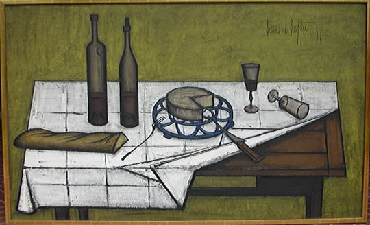 Still Life With Bread and Glasses