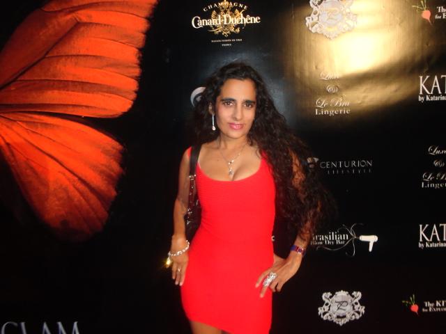 Sanjini Red Dress Event