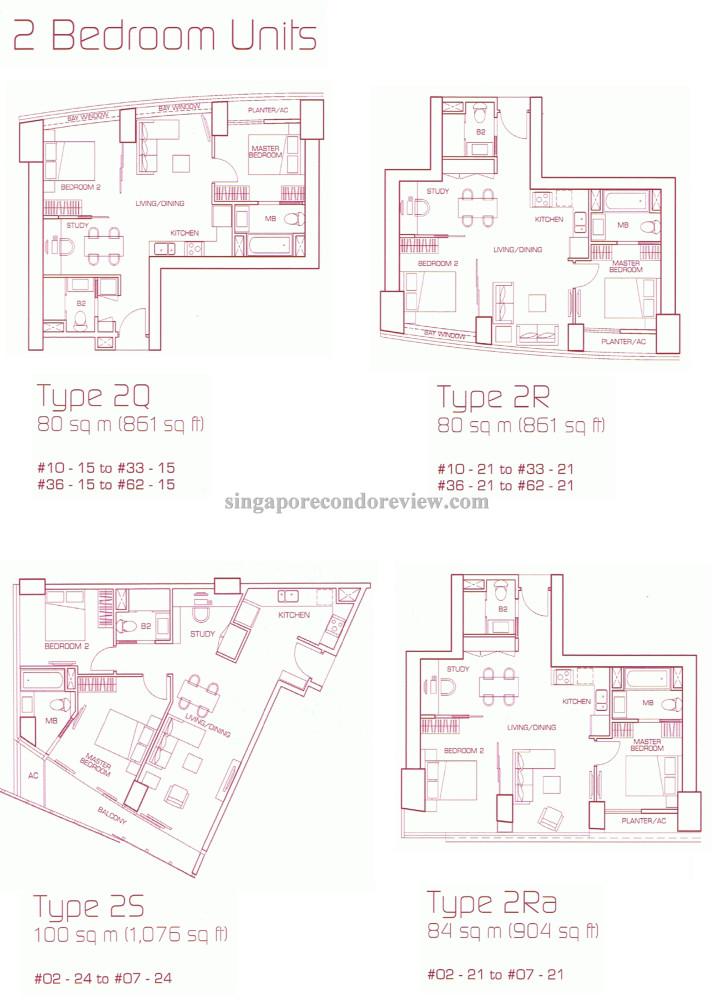 Sail stack 21 unit type 2R floorplan