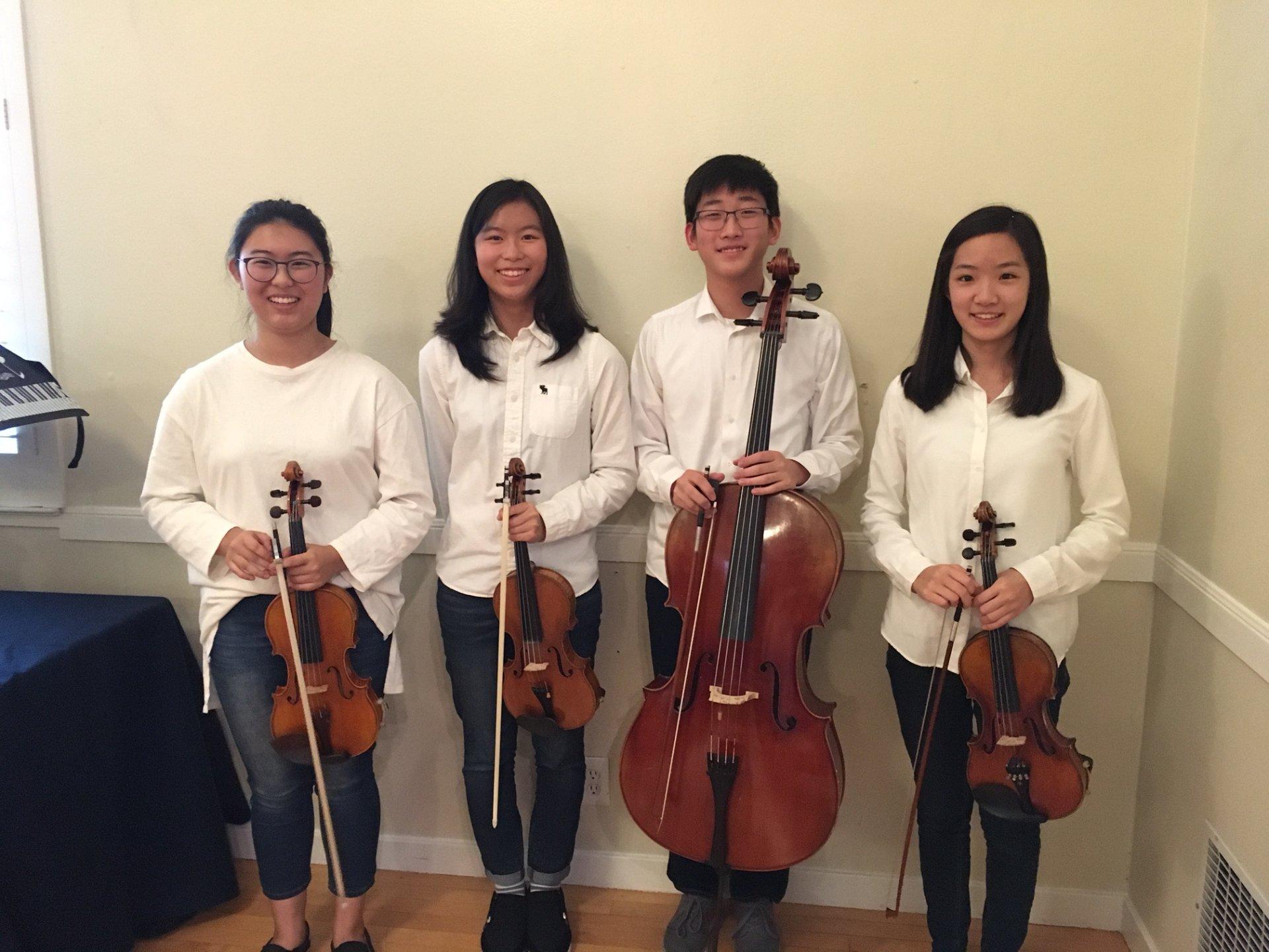 Photo of Topaz Quartet.