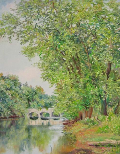 40. Monocacy Aqueduct, 20x16 oil on canvas