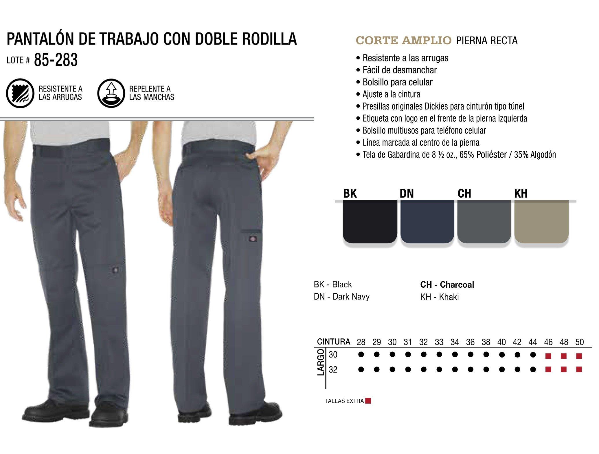 Pantalón de Trabajo con Doble Rodilla. Corte Amplio. 85-283.