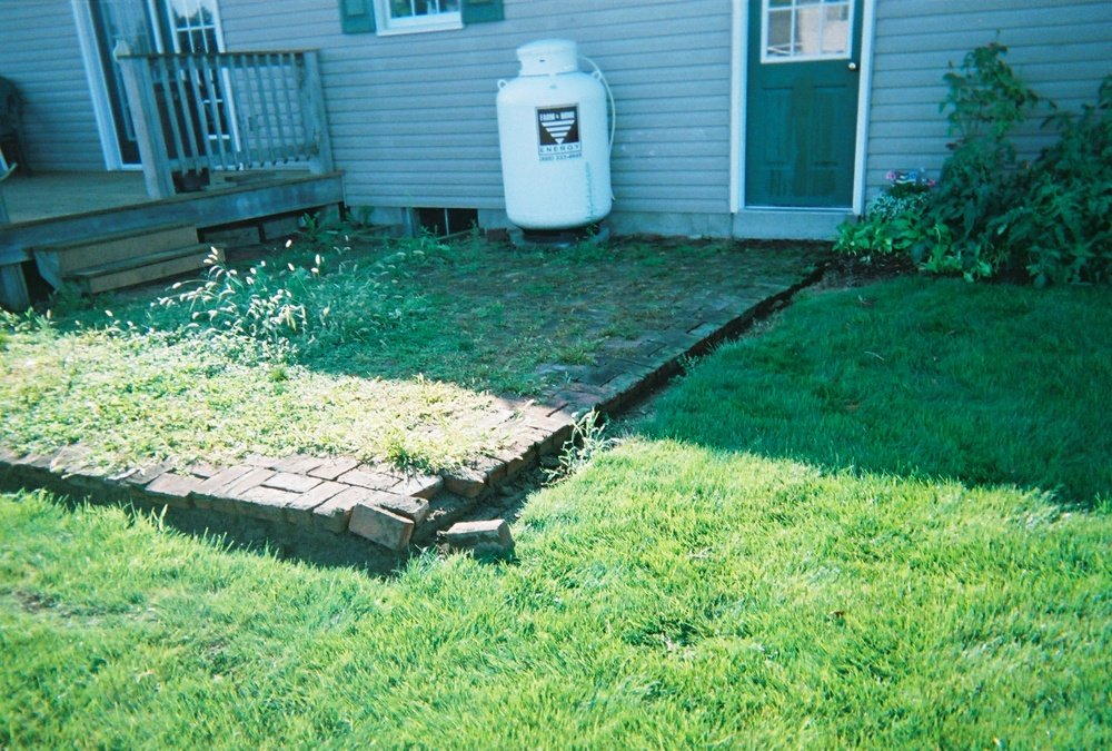 Before stamped concrete