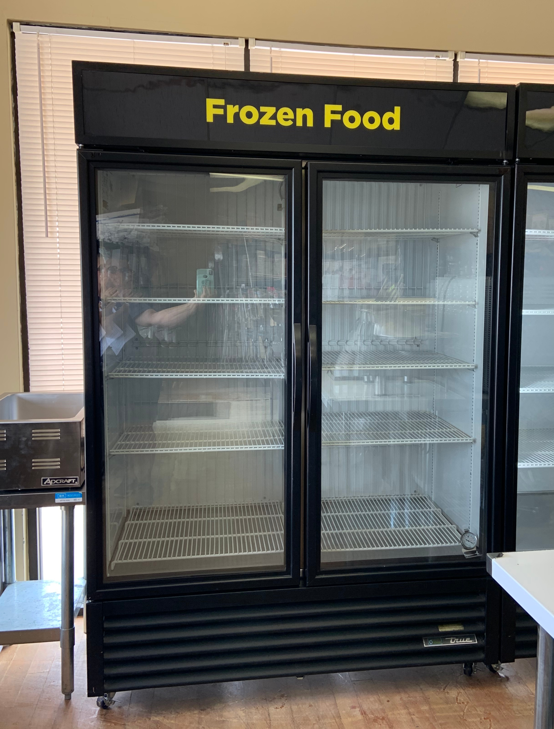 Used True 2 Door Glass Freezer with LED Lights  Model # GDM-49F $ 2500.00