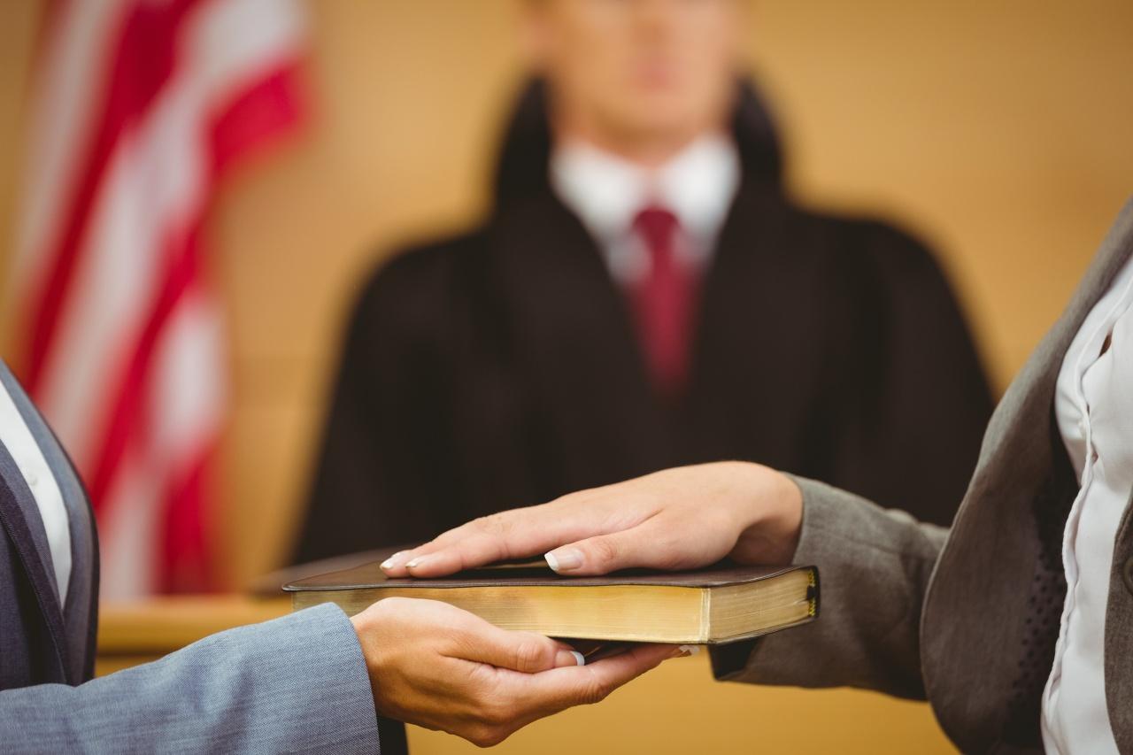 Witness Being Sworn In