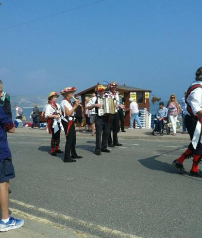 Merrydowners band on the Sea Front