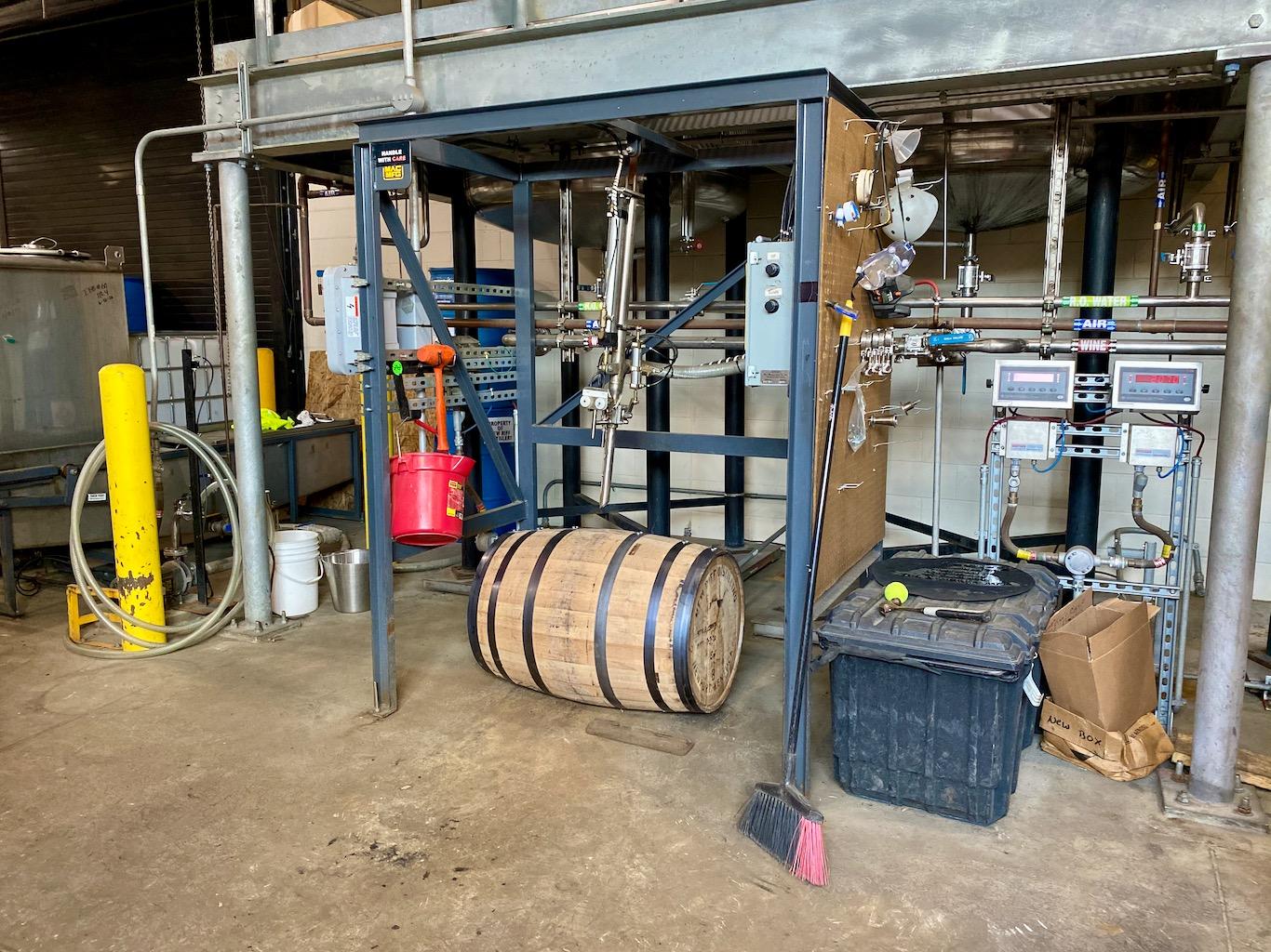 Barrel Filling Station - New Riff Distilling Distillery