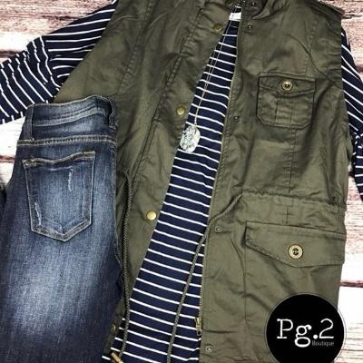 Lined Vest & Jeans