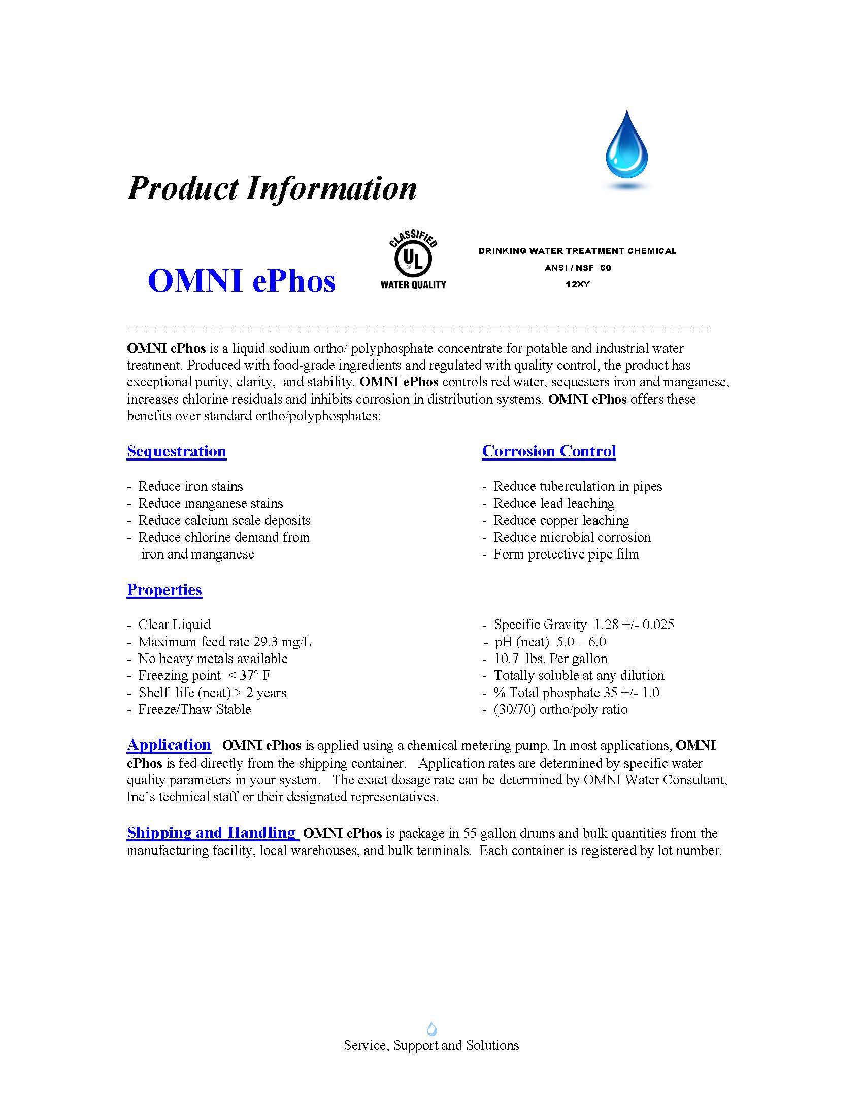 OMNI ePhos Product Sheet