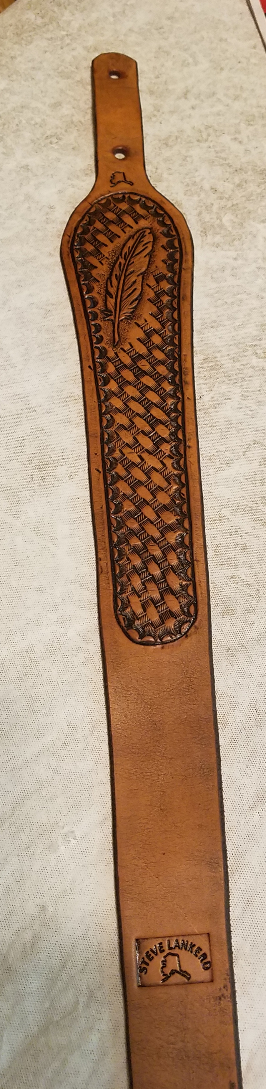 Rifle sling, hand tooled,  $40.00