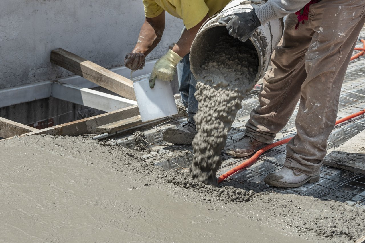 Concrete construction service in Fairfax County