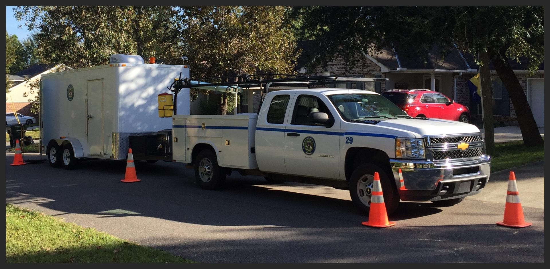 CCTV Crew Vehicle & Trailer