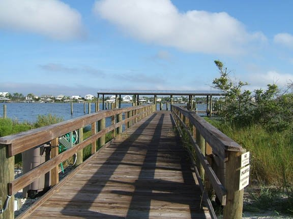 Boardwalk To Docks On Old River
