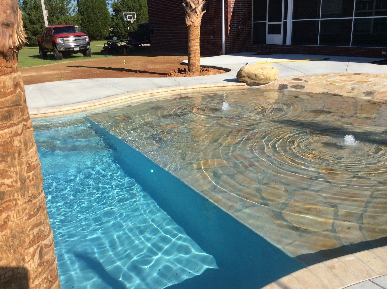 Pool Deck with Pavers