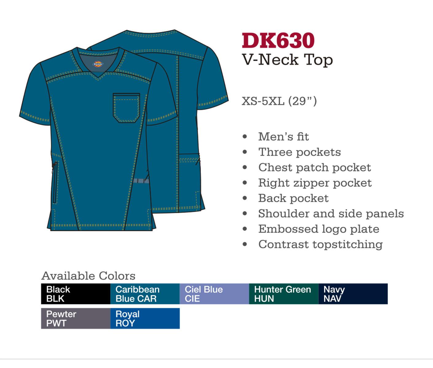 Cuello en V. DK630.