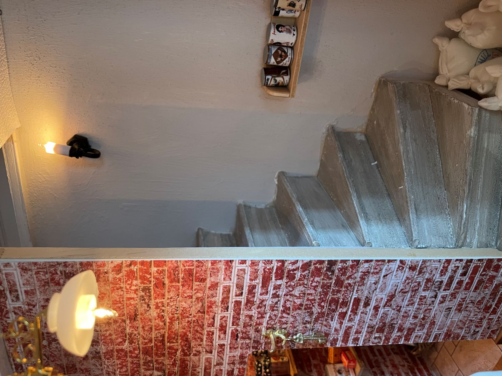 Backstairs to Dining Room
