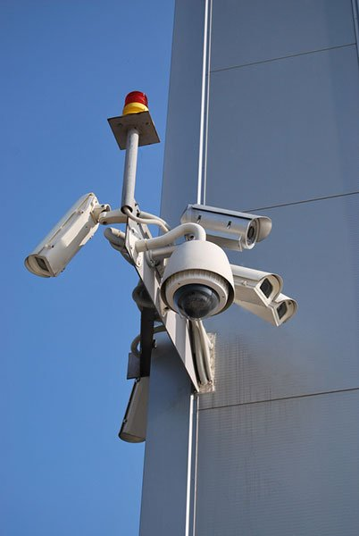 Installed security cameras