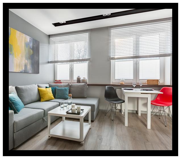 Modern Studio Apartment In Gray