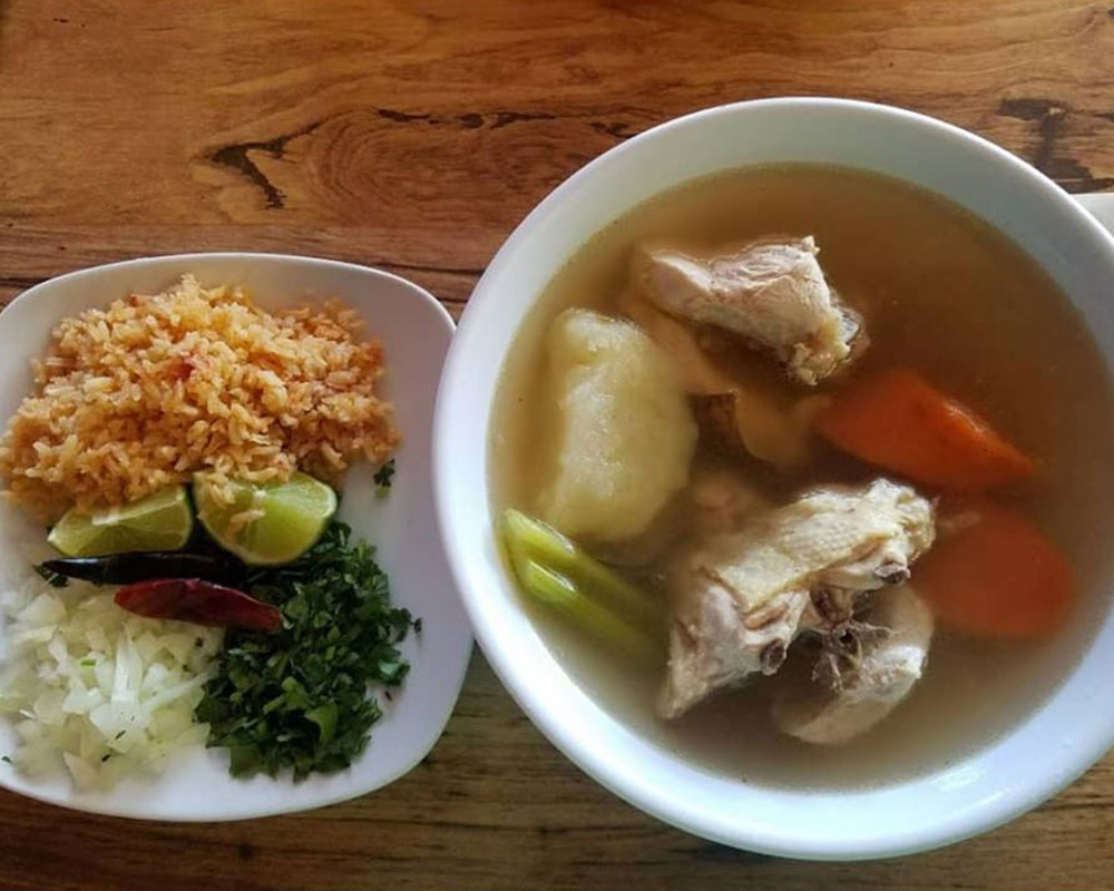 Soup and Rice Meal