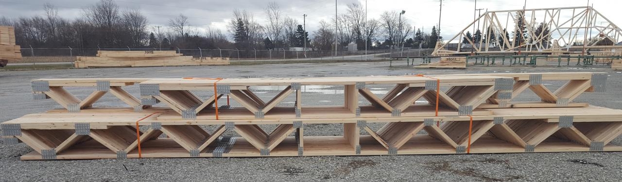 Automated building components floor trusses for I joist vs floor truss