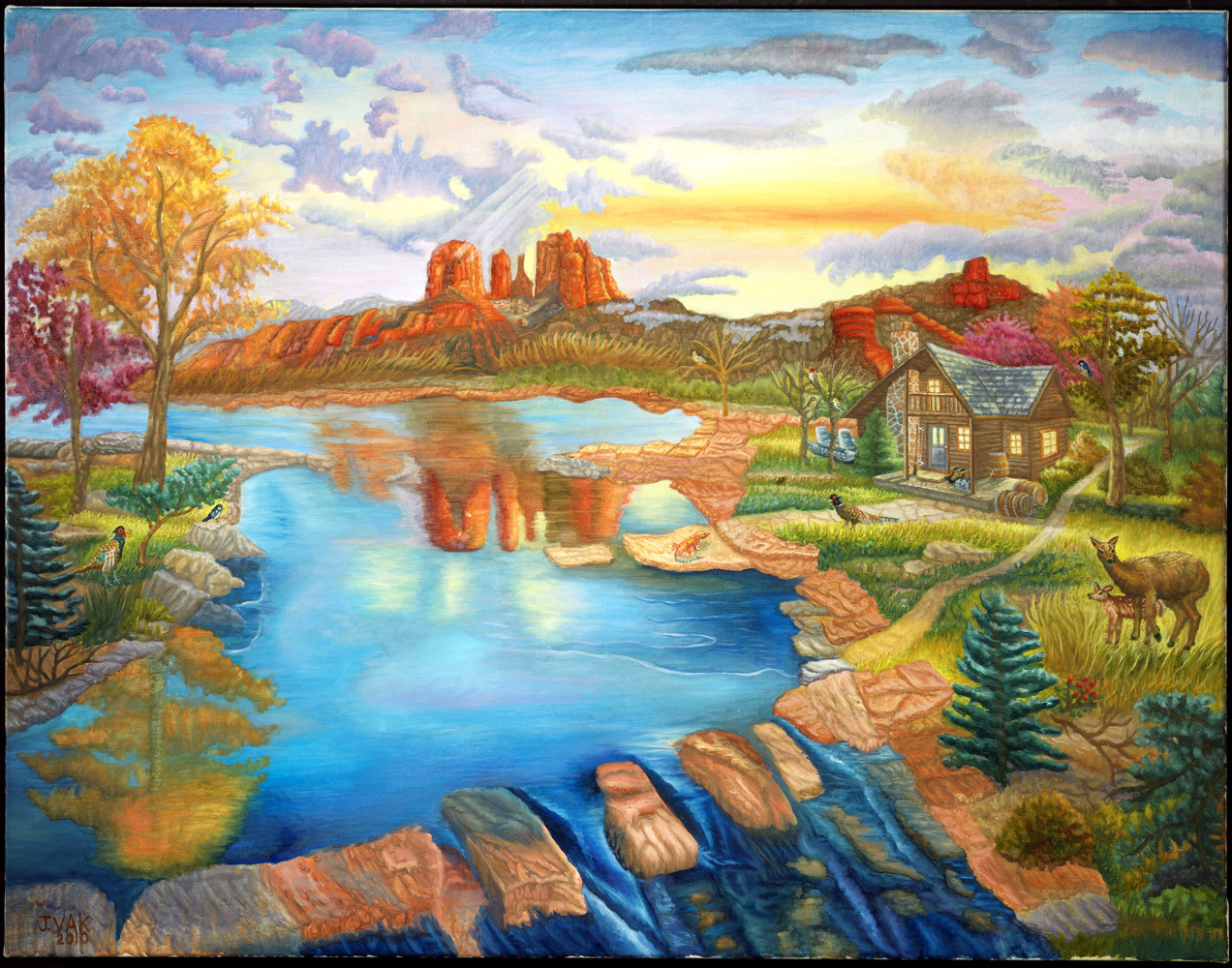 Cathedral Rock 28x36 Original Oil $4850 2010
