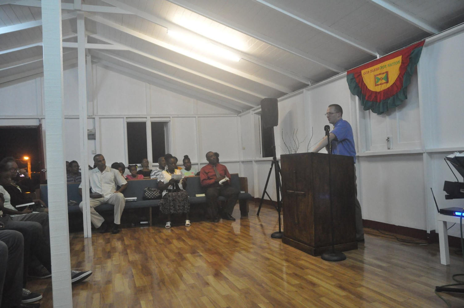 Pastor Joseph Childers preaching