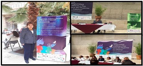 """27/09/18 El día de hoy asistimos al foro """"Seguridad, Justicia y Paz para las mujeres en México"""" participamos  en las mesas de dialogo, el evento se desarrolló en la CDMX."""