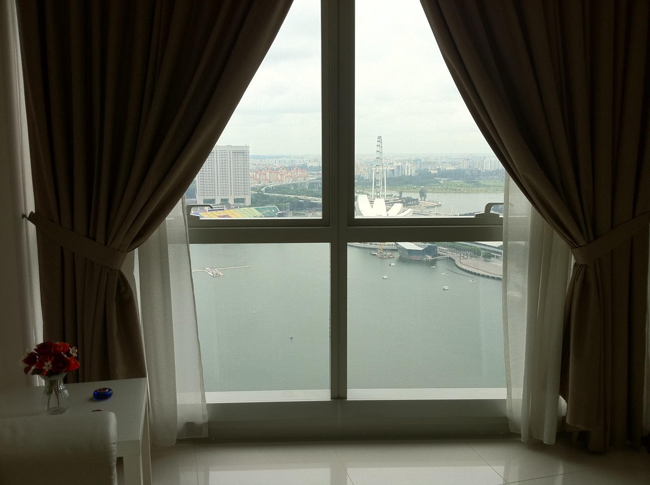 View from the Living Room out to Marina Bay