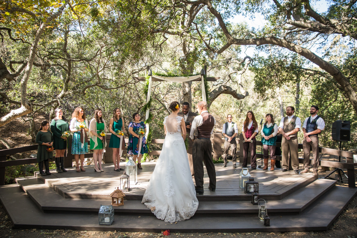 Bridal Party at Oak Canyon Nature Center [Ceremony Site]