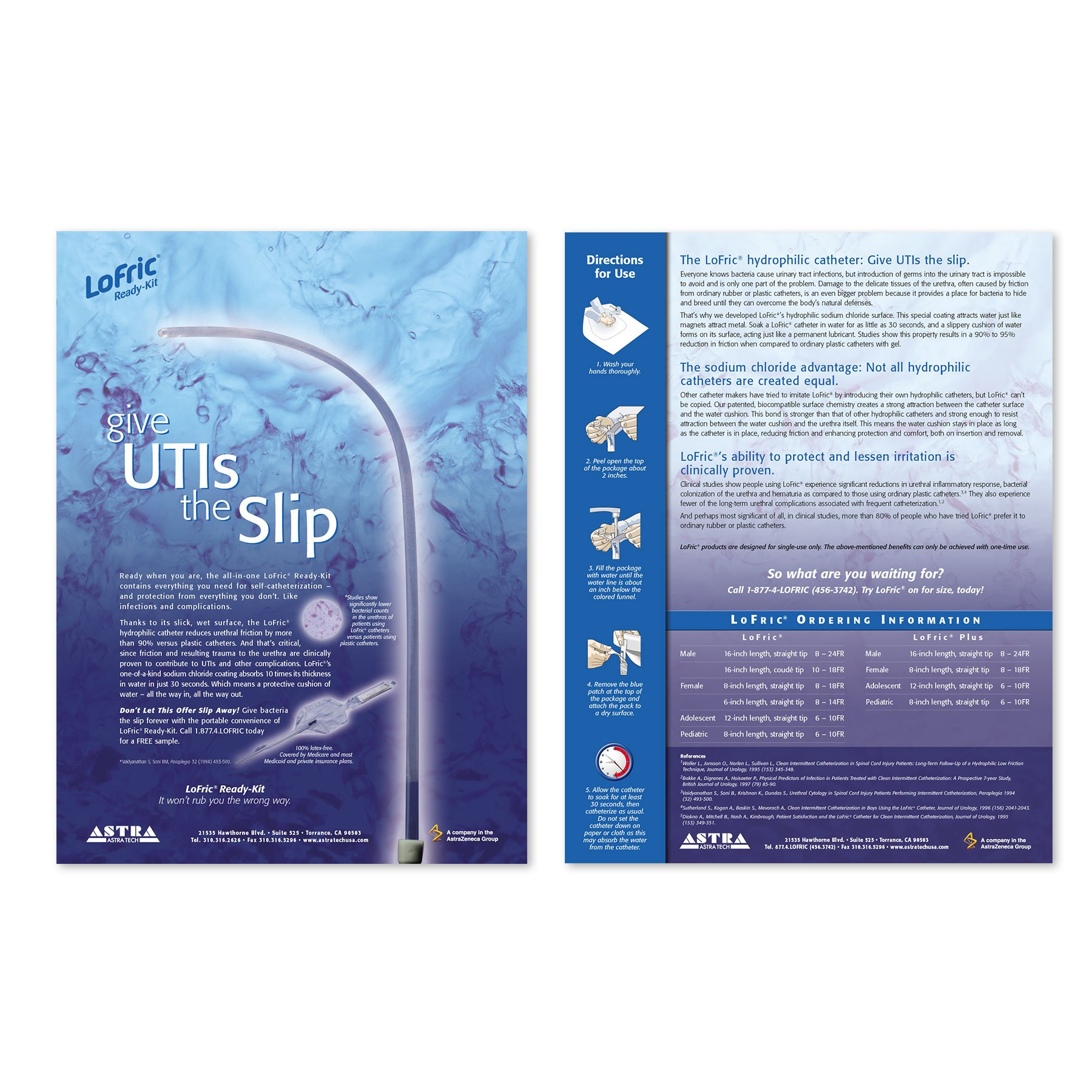 Astra Tech LoFric Catheter Sell Sheet