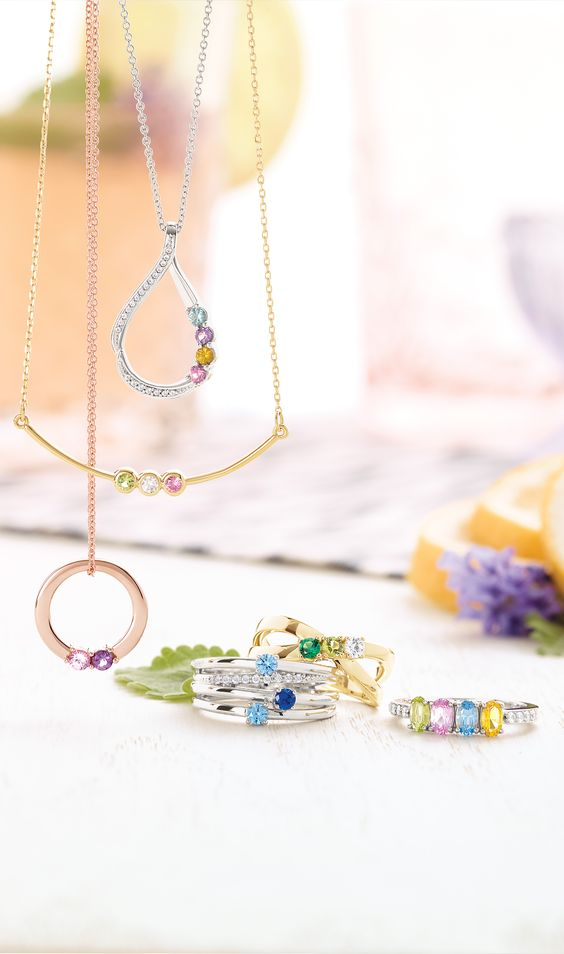 Gemstone Necklaces and Rings
