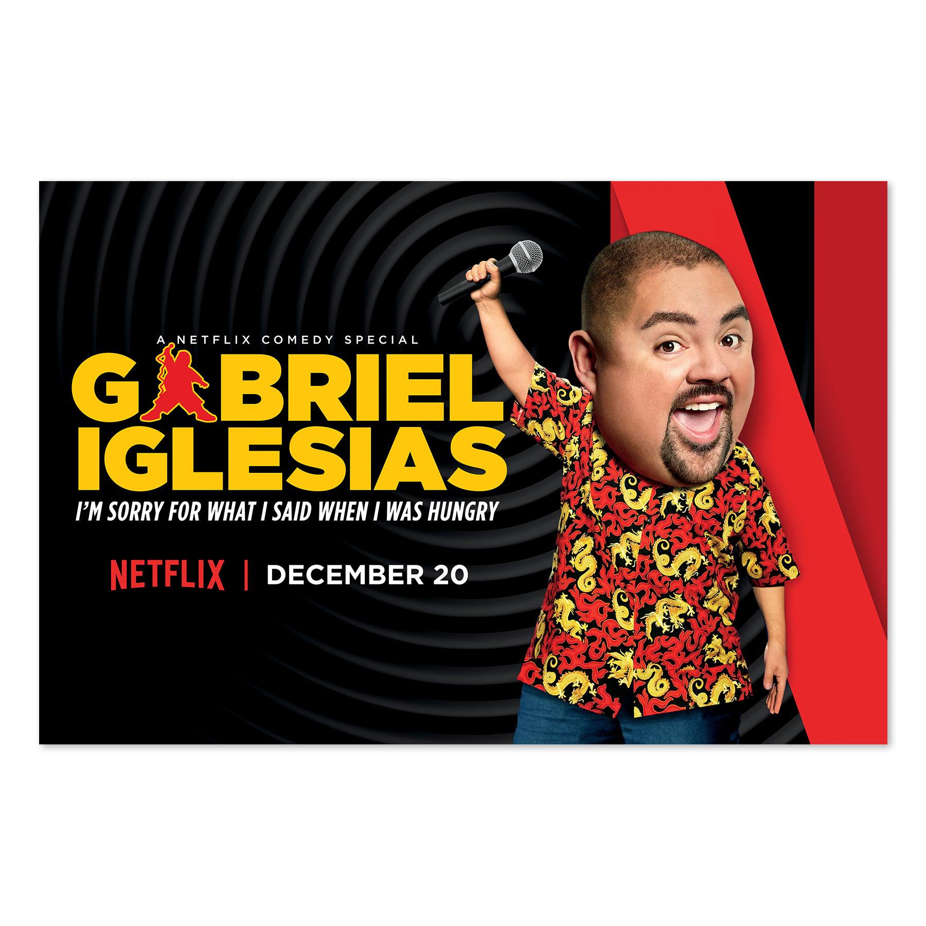 Gabriel Iglesias Digital Banner for Netflix
