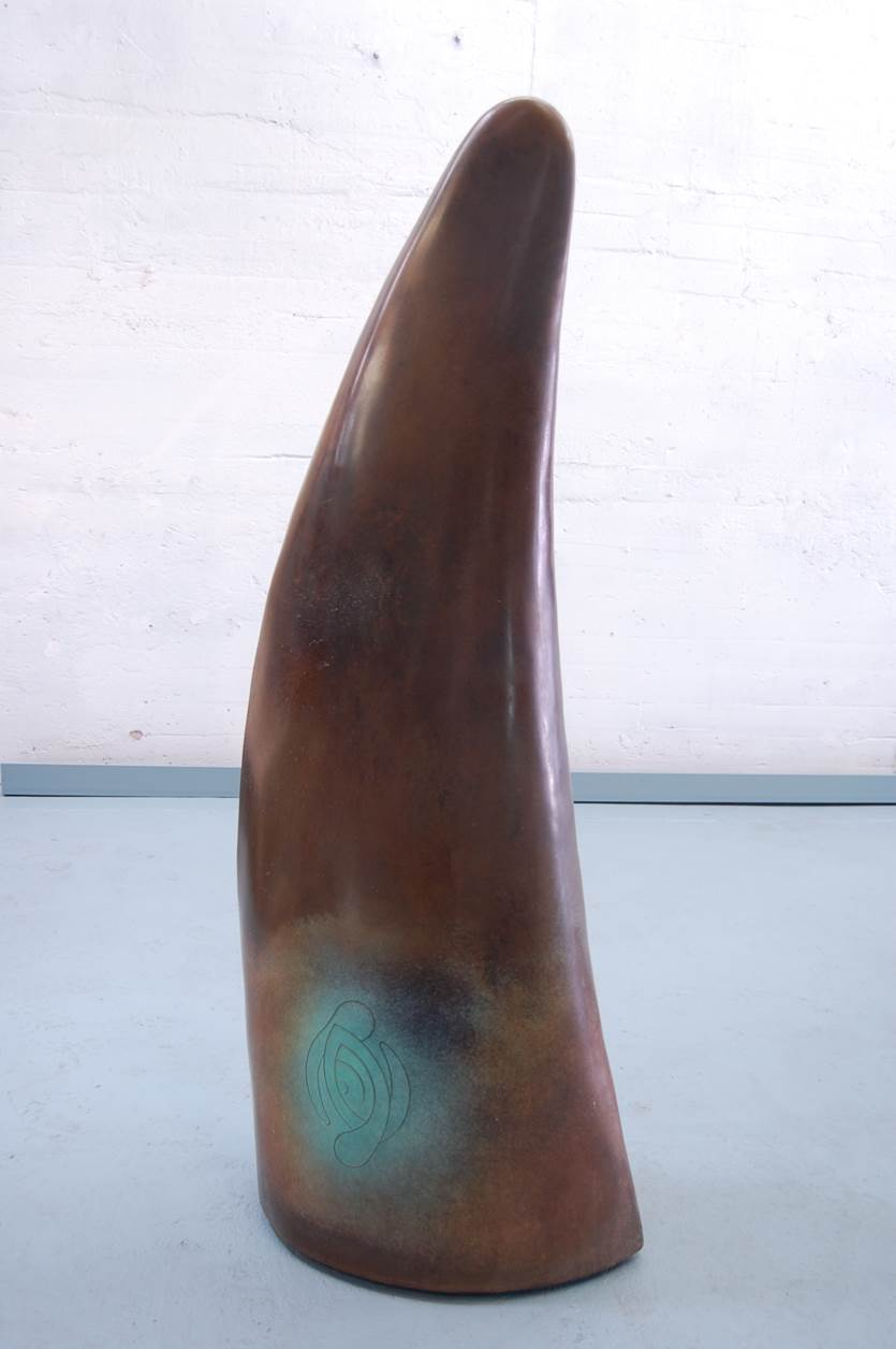 "Nimba - 2001, Fabricated Bronze with Patina, 54"" x 21"" x 17"""
