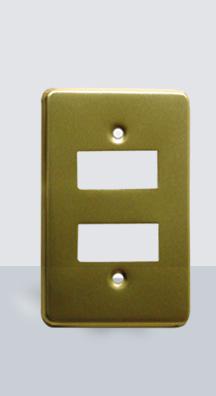 PL-AL-2 Placa Aluminio 2 Ventanas