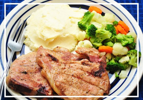 Tasty Pork Chop Dinner with Vegetables
