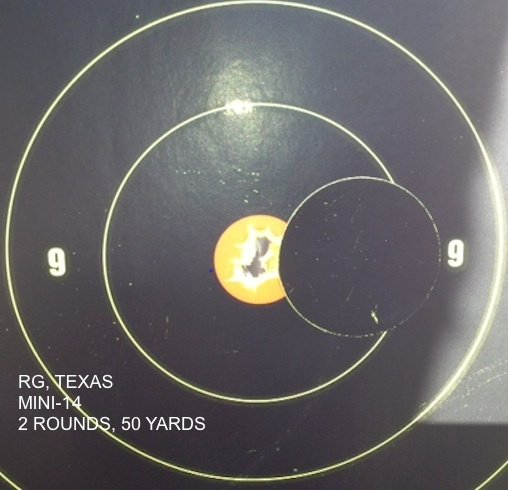 R.G., TEXAS MINI-14 2 ROUNDS, 50 YARDS
