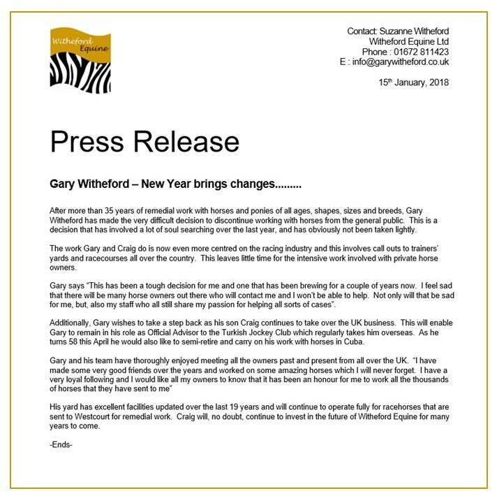 Press Release 2018