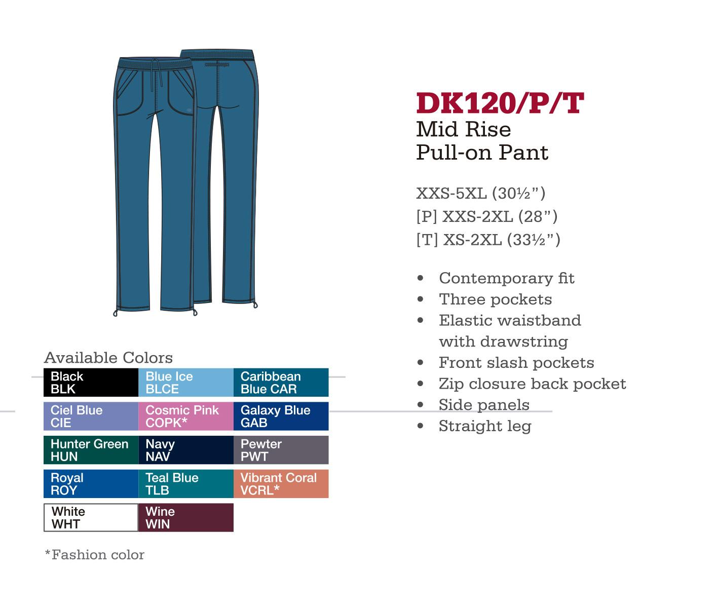 Pantalón Pull-on de Medio Levantado. DK120/P/T.