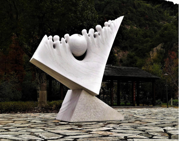 Cosmic Symphony - marble -  Sculpture Park - Wenzhou - China