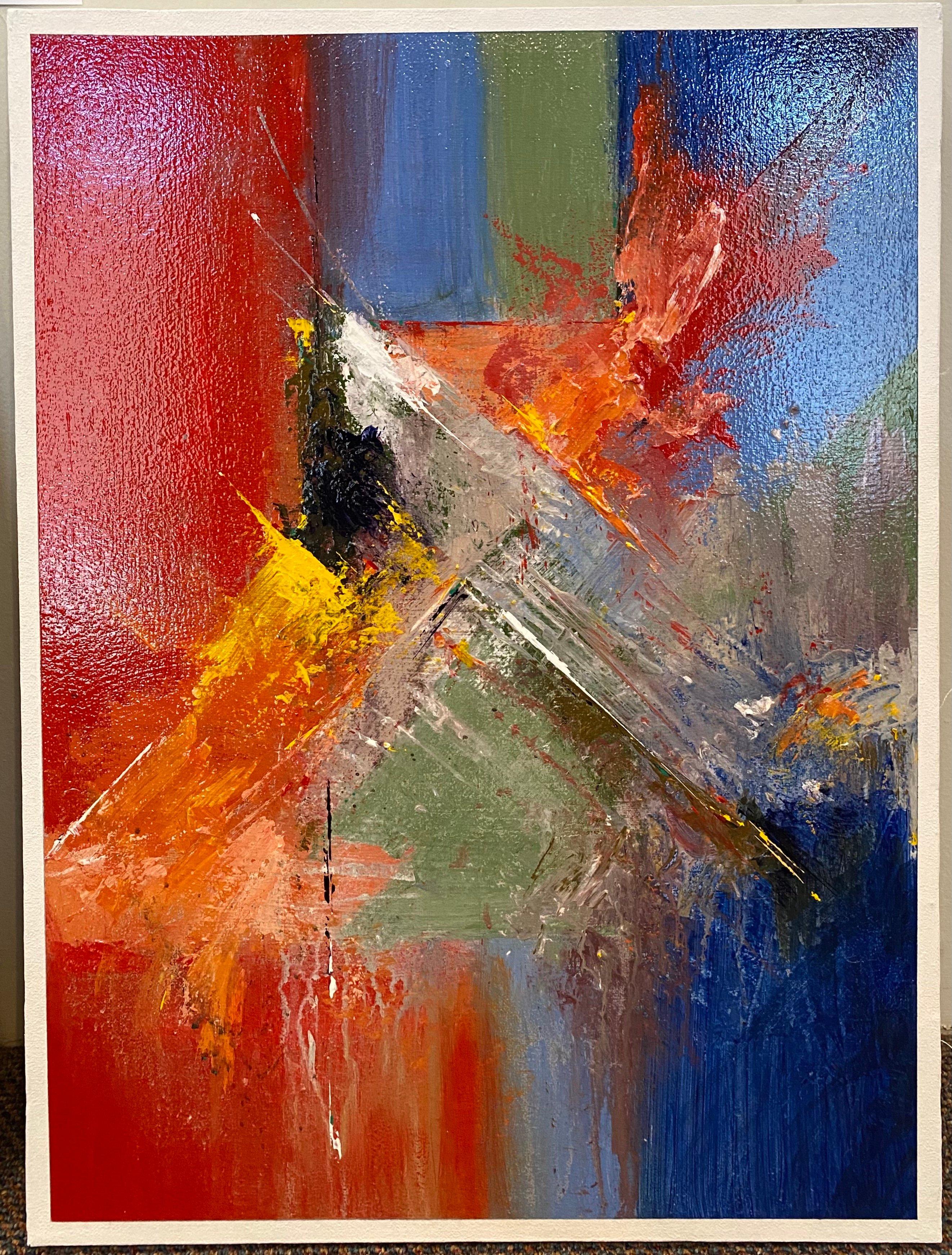 "Abstract Acrylic 18"" X 24"" $185."