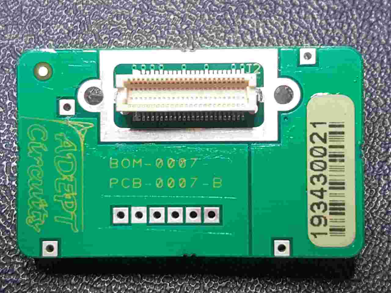Infrared Camera Adaptor printed circuit board with  single high density 50 pin connector  type Hirose DF12-50DS-0.5V(86)