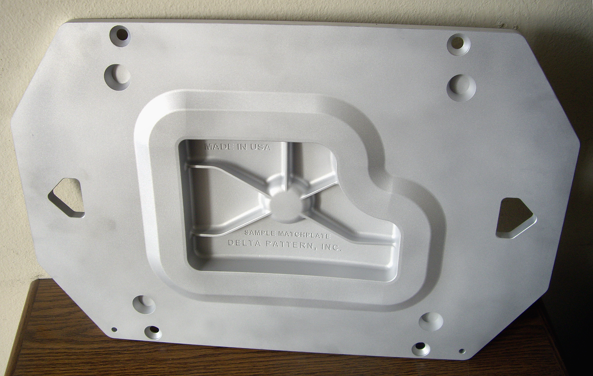Aluminum Matchplate CNC machined from a billet