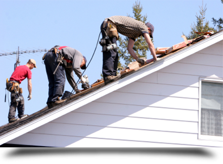 Men working on new roof||||