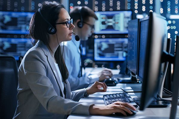 Female working in a Technical Support
