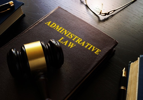 Administrative Law and Gavel on a Table