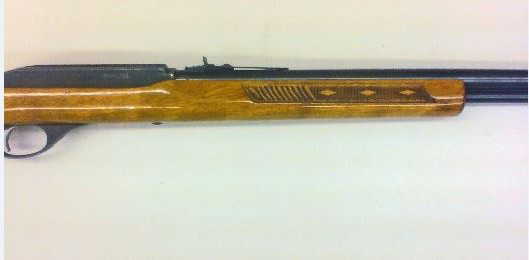 Marlin model 60 forearm refinished with high gloss polyurethane.