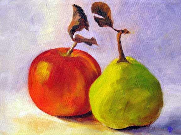 "Gossip - 6""x 8"" Oil on Canvas Panel Sold"
