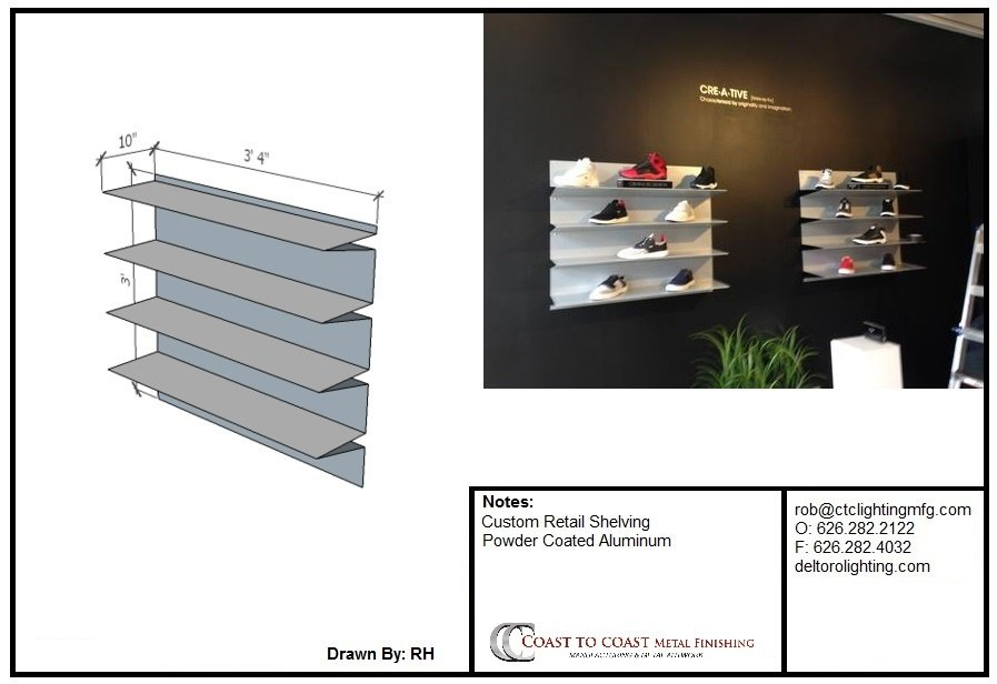 Custom Shoe Shelving