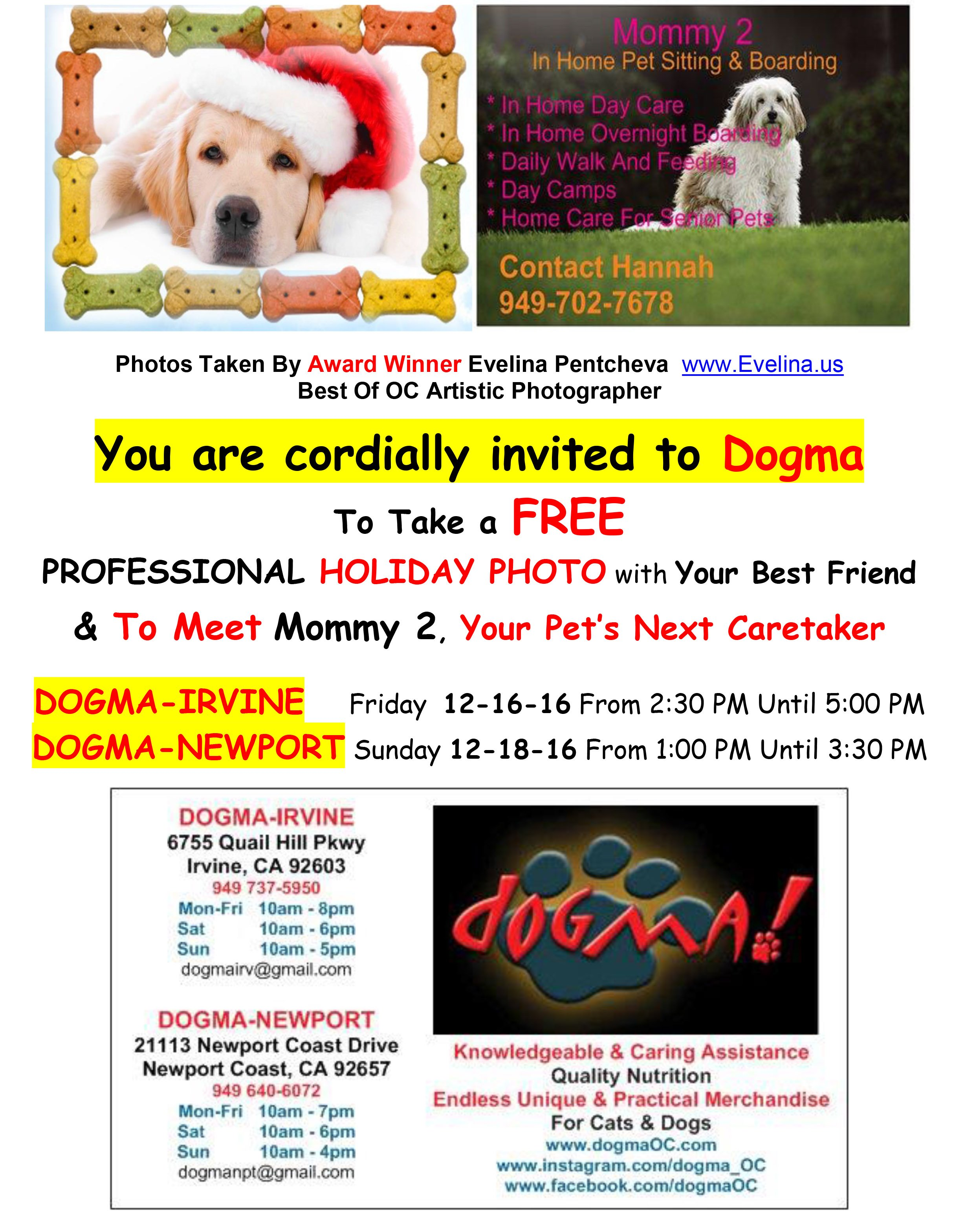 dogma lets our work speak for itself images of our pet dogma lets our work speak for itself images of our pet supplies and events in irvine and newport coast california