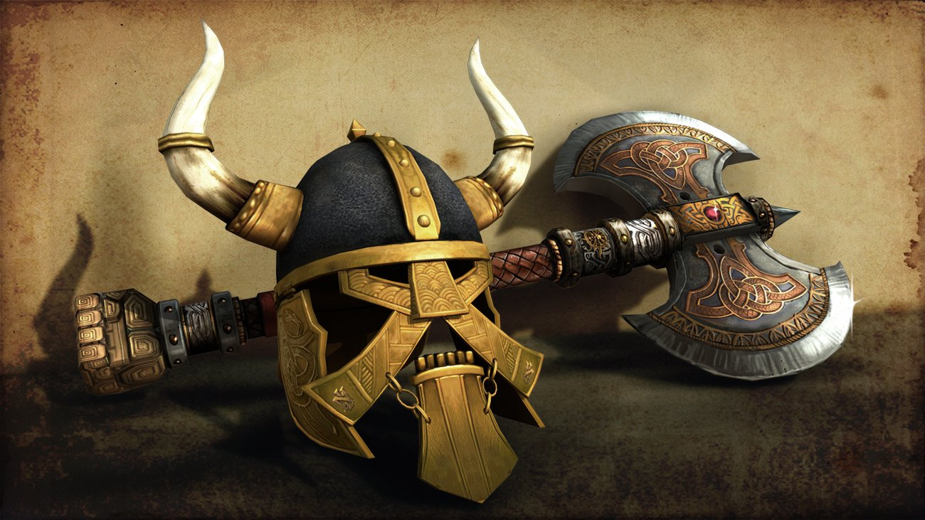 Ax and Helmet . Software used 3ds Max, and PhotoShop.